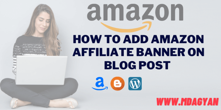 Amazon affiliate banner on Blog